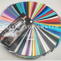 New arrival High end wrapping car covering film car car foil wrap car wrapping vinyl COLOR SWATCH sample card for Wholesaler