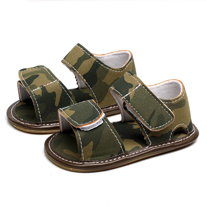 Baby Boy Shoes Summer Fashion Camouflage Baby Shoes PU Soft Bottom Newborn First Walkers