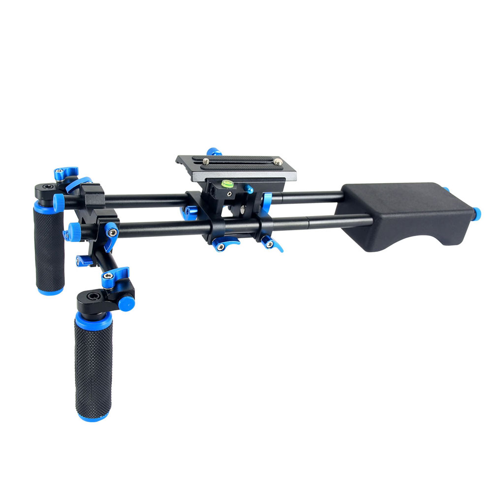New Professional DSLR Rig Shoulder Mount Rig Filming Photography Accessories For Canon Sony Nikon SLR Video Camera DV Camcorder koolertron professional 15mm rail dia dslr shoulder pad support mount rig hand grip for cannon sony dv hdv hd camcorder