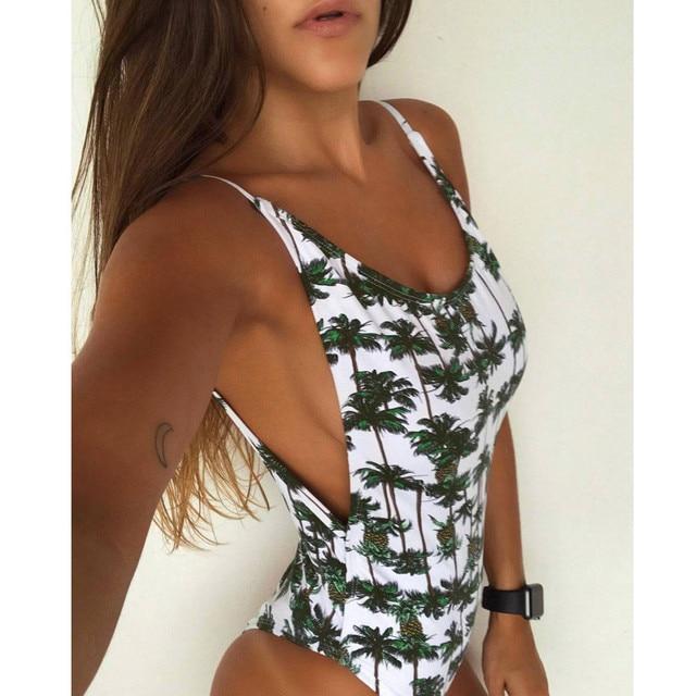 d4c8d0f1bed Bikini 2019 Women Swimwear One Piece Swimsuit Female Pineapple Print Body Suit  Beachwear Bathing Suit mayo maillot de bain femme