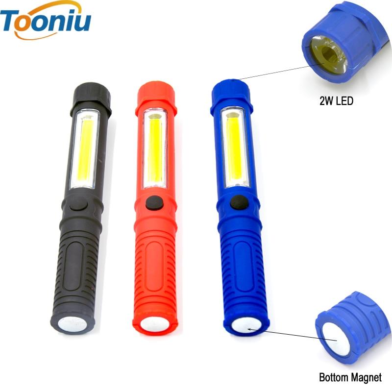 Lampu suluh LED COB Mini Pen Multifungsi LED Torch Light cob Mengendalikan kerja lampu suluh Kerja Lampu suluh Tangan Dengan Magnet Bawah