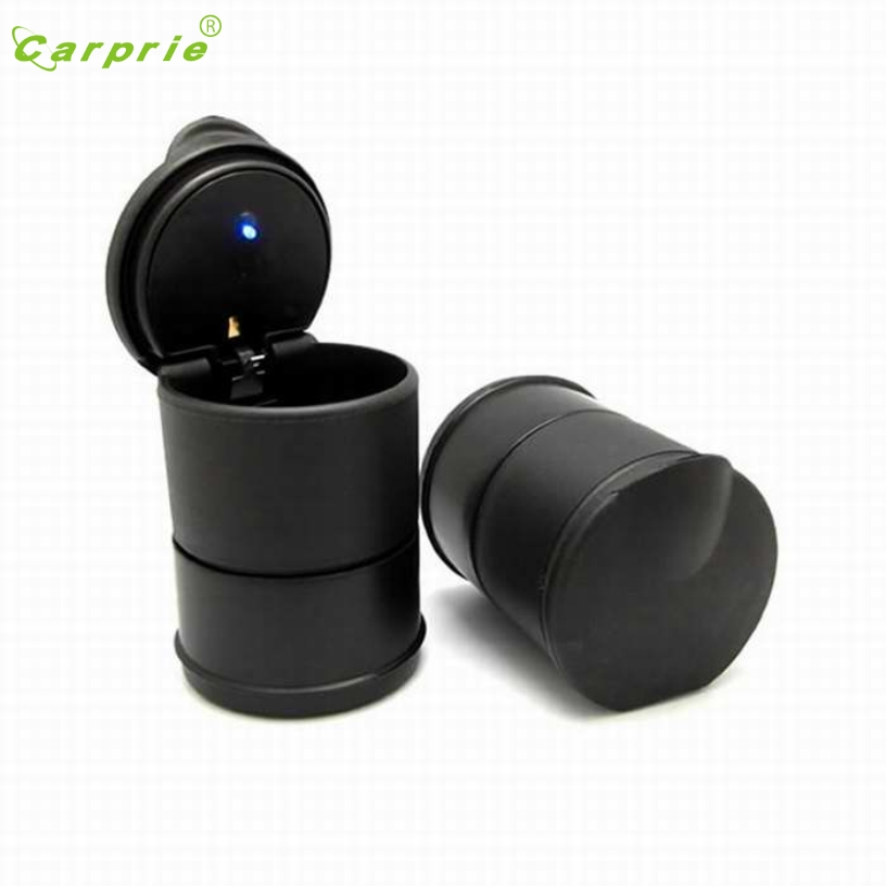 Dropship CARPRIE Hot Selling LED Portable Car Truck Auto Office Cigarette Ashtray Holder Cup Black Gift Mar 24