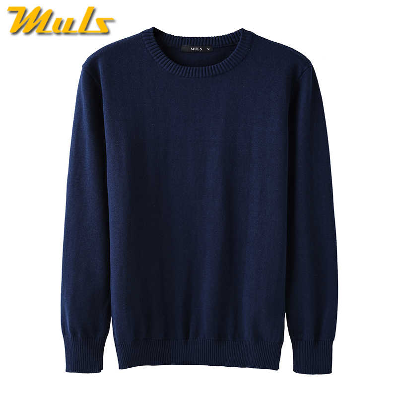 4Colors Men Sweater Pullovers 100% Cotton O neck Normcore Sweater Jumpers Man Winter Male knitwear Plus Size 4XL 2017 Autumn New