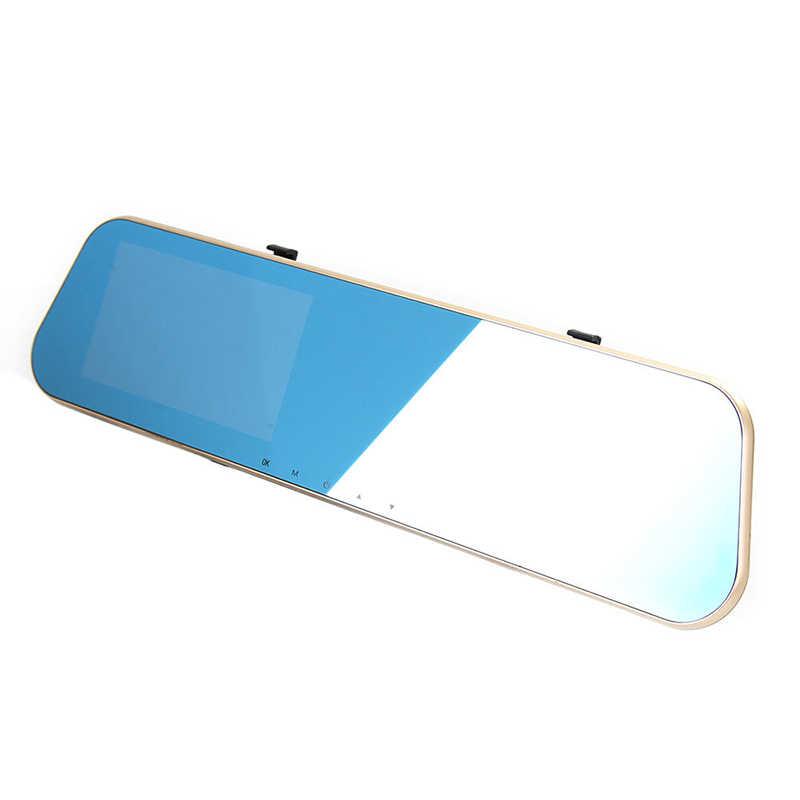 1080P FHD Dvr Carro Azul Espelho Retrovisor de Lente Dupla Câmera Do Carro duas câmeras registro de Loop Recorder Auto Registrator Camcorder