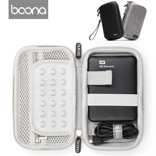 Boona EVA with Oxford Fabric Hard Disk Storage Bag, Electronic Gadgets Organizer Protective Case for Digital Products
