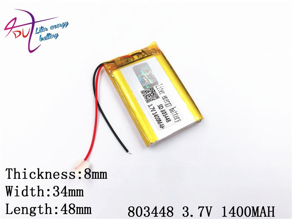 Handy Sprechen Gute WäRmeerhaltung 1400 Mah 803448 Polymer Lithium-ion/li-ion Batterie Für Modell Flugzeug Gps Beste Batterie Marke 1 Stücke 3,7 V Mp4 Mp3