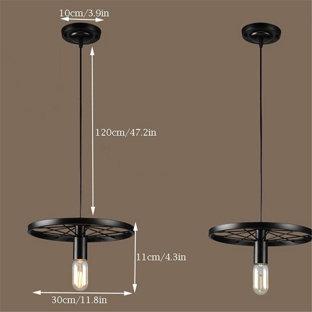 Kitchen Island 120cm navimc industrial kitchen wagon wheel chandelier pendant lamp
