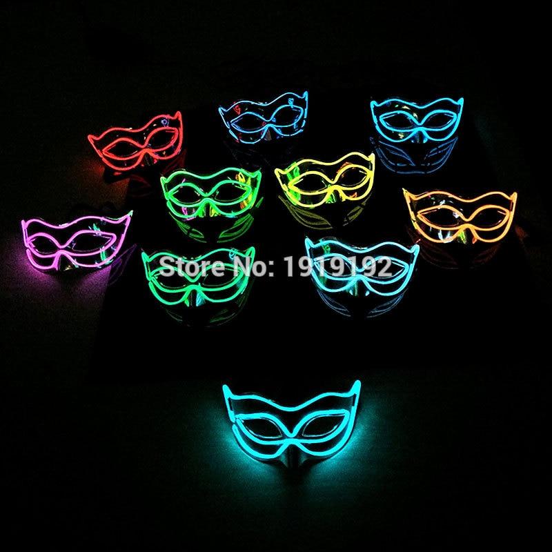 2017 Cool Halloween Style Fox Mască EL Mască sârmă strălucitoare - Produse pentru sărbători și petreceri