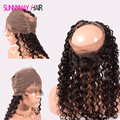Cheap 360 Lace Frontal Pre Plucked Natural Hairline Curly 360 Lace Virgin Hair With Baby Hair For 360 Lace Frontal Closure