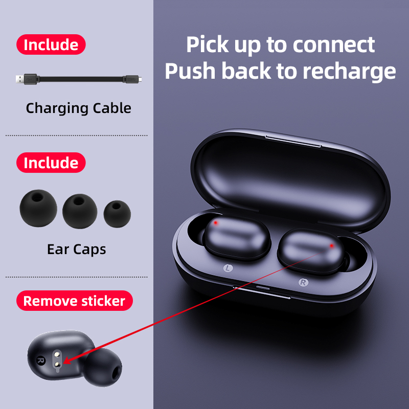 haylou gt1 tws fingerprint touch bluetooth earphones with noise cancelling