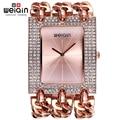 Weiqin damas pulsera relojes para mujeres plata del cuadrado del Rhinestone Dial brazalete reloj de pulsera mujer reloj relogios femininos