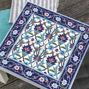 Image 2 - Hot marroquí Lack mesa escritorio Tops tela calcomanías de pared extraíble autoadhesivo impermeable mueble o pared pegatina 55X55Cm
