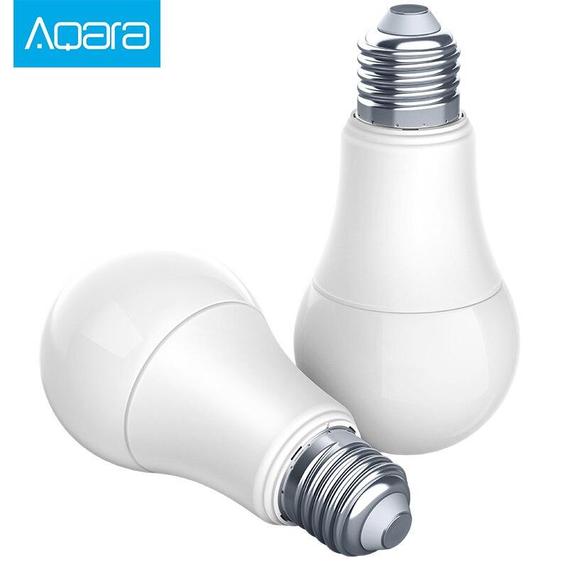 Original xiaomi mi jia aqara bombilla zigbee versión trabajar con mi casa app Y para apple homekit bombilla LED inteligente
