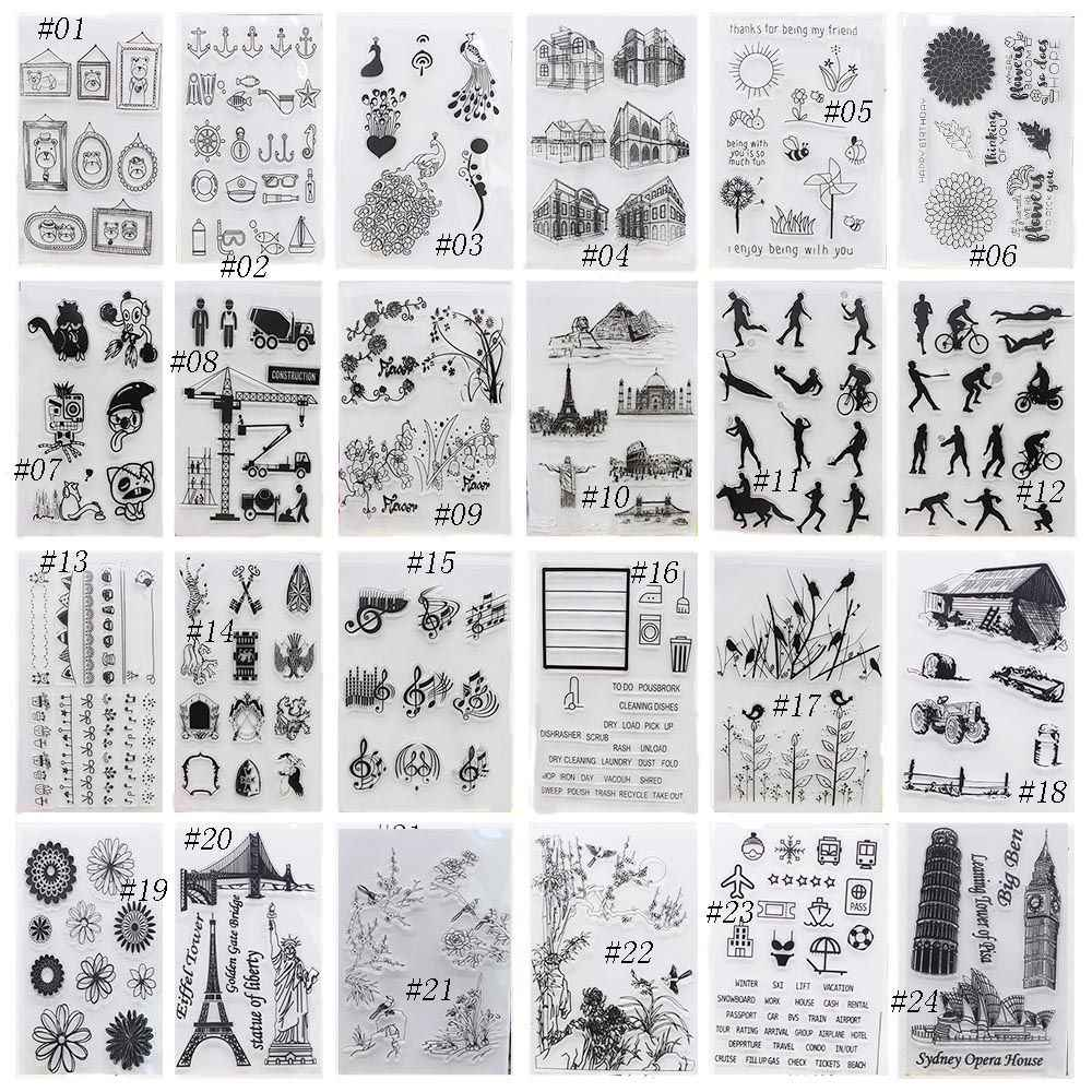 New Alphabet Transparent Silicone Clear Rubber Stamp Sheet Cling Scrapbooking DIY Cute Pattern Photo Album PaperCard Decor Stamp