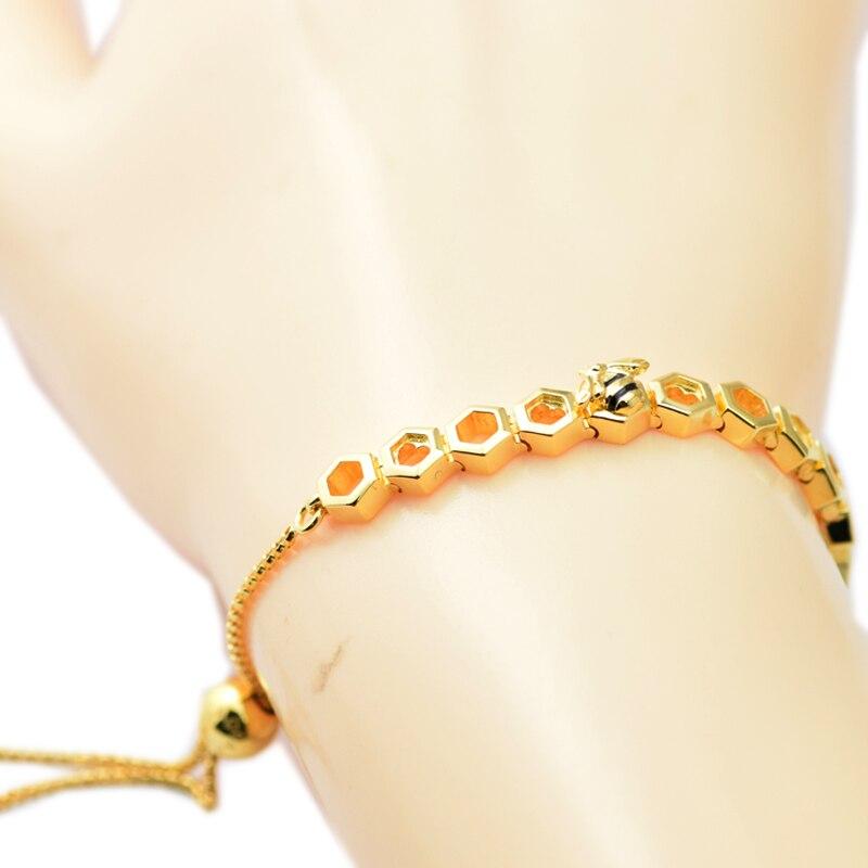 Bracelets et Bracelets en argent véritable 925 bijoux brillant Bracelet d'abeille bijoux de mode Bracelets pour femme bijoux à bricoler soi-même SHB004