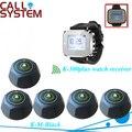 Inteligente llamada del camarero para el cliente getting asistente by presionando un botón de la tabla 1 reloj W 5 campanas