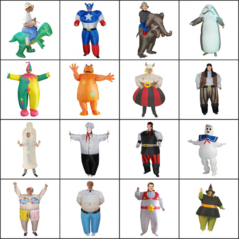 HOT Halloween adult dinosaur costume funny party animal inflatable - bing xiao's store
