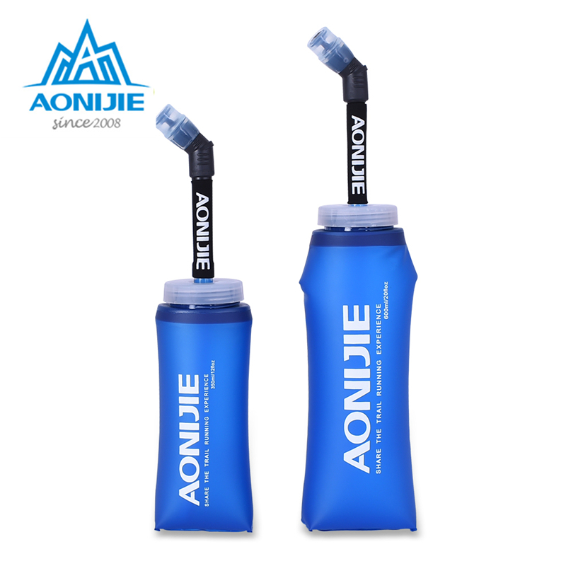 AONIJIE Sports Soft Flask Folding Collapsible Water Bottle TPU Free For Running Jogging Hydration Pack 350ml 600ml in Water Bags from Sports Entertainment