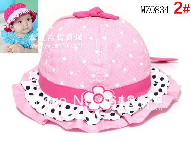 Winter Warm Knitted Hats For Boy/girl/kits Hats  Infants Caps Beanine For Chilldren Ear Protection Cap-Dot Lace Mz0834-2pcs