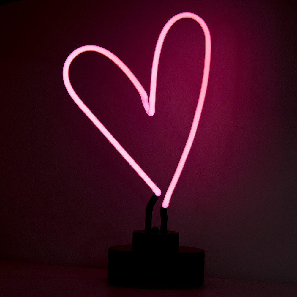 CHIBUY Heart Neon light sign Glass Tube Sculpture Neon lamp Art Neon Neon Sign Light Indoor desktop decoration-in Plaques & Signs from Home & Garden    1