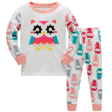 Brand New Girls Pajamas Kids Animal Sleepwear Pijama Owl Nightwear Baby Pyjamas for 3-8 Years