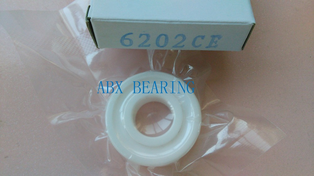 6202-2RS full ZrO2 ceramic deep groove ball bearing 15x35x11mm 6202 2RS 6202 full zro2 ceramic deep groove ball bearing 15x35x11mm