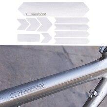 Защитная оправа для велосипеда, устойчивая к царапинам, съемные наклейки для защиты горного велосипеда