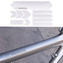 Cadre de vélo Protection anti rayures autocollants amovibles pour couverture de garde de vélo de route de montagne