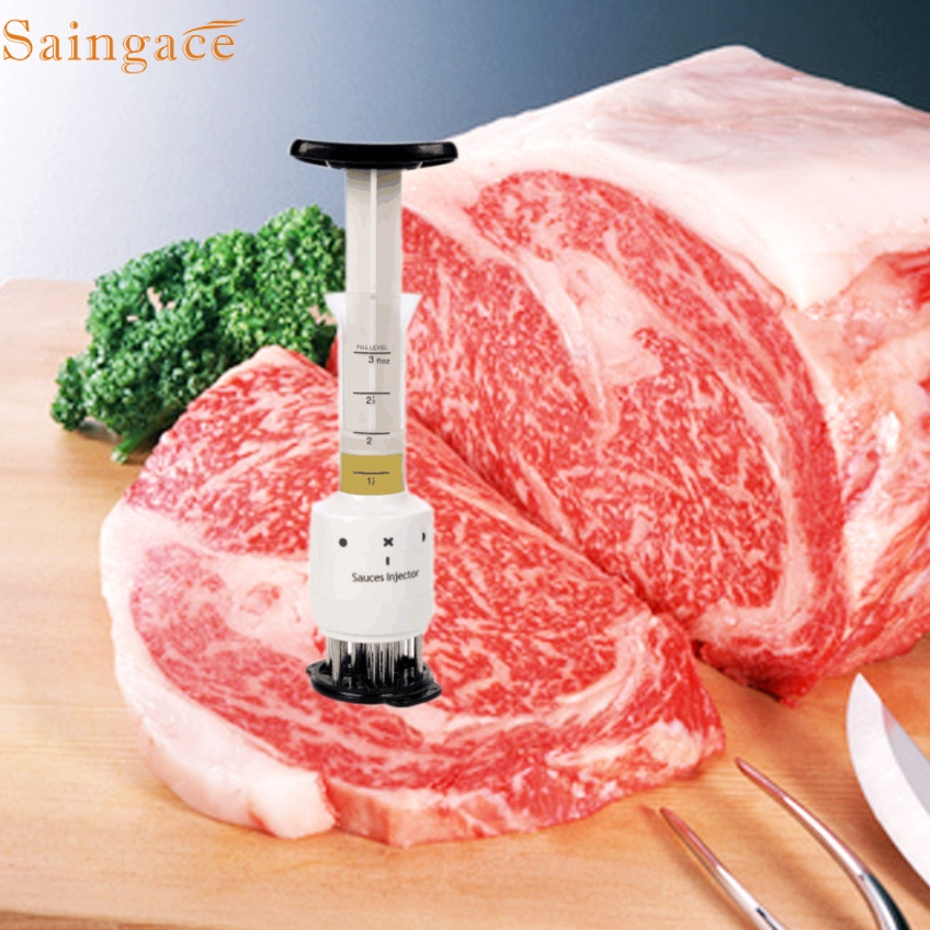 Saingace Profession Meat Meat Tenderizer Needle With Stainless Steel Kitchen Tools GIfts High Quality to Make