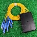 1*8 Fiber optic splitter cable box 1 points 8 optical fiber line shunt connection box taper type optical branching device SC