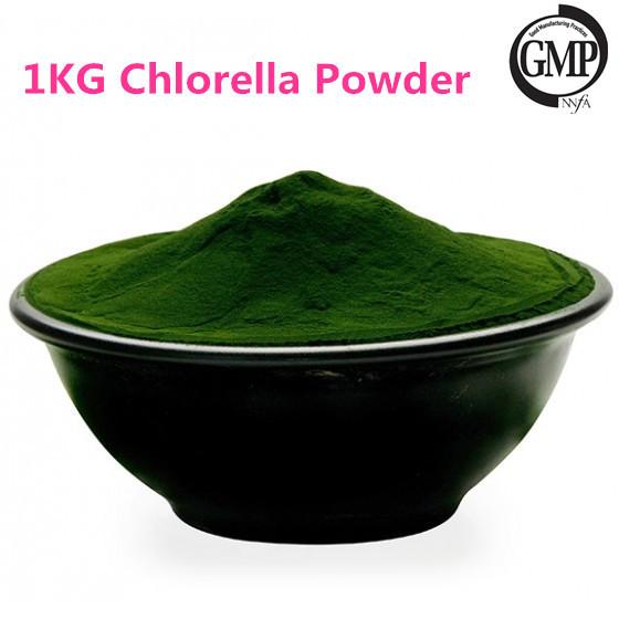 1 KG Orgánica Chlorella En Polvo, Superior de Clorofila y Carotenoides y Proteínas, equilibrio de La Presión Arterial y La Sangre Sugarchlorella
