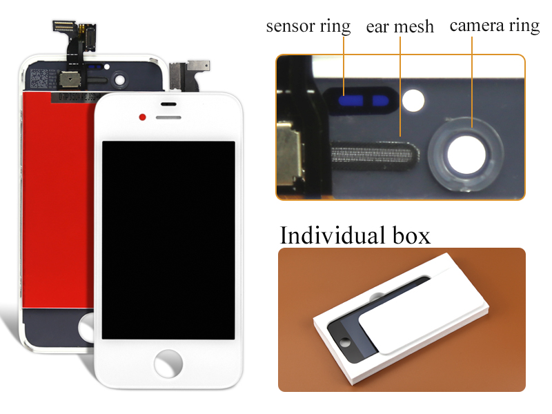 alibaba china highscreen 10pcs/lot Black/white For Iphone 4 Lcd Display Touch Screen Digitizer Assembly free DHL shipping 1 pcs for iphone 4s lcd display touch screen digitizer glass frame white black color free shipping free tools