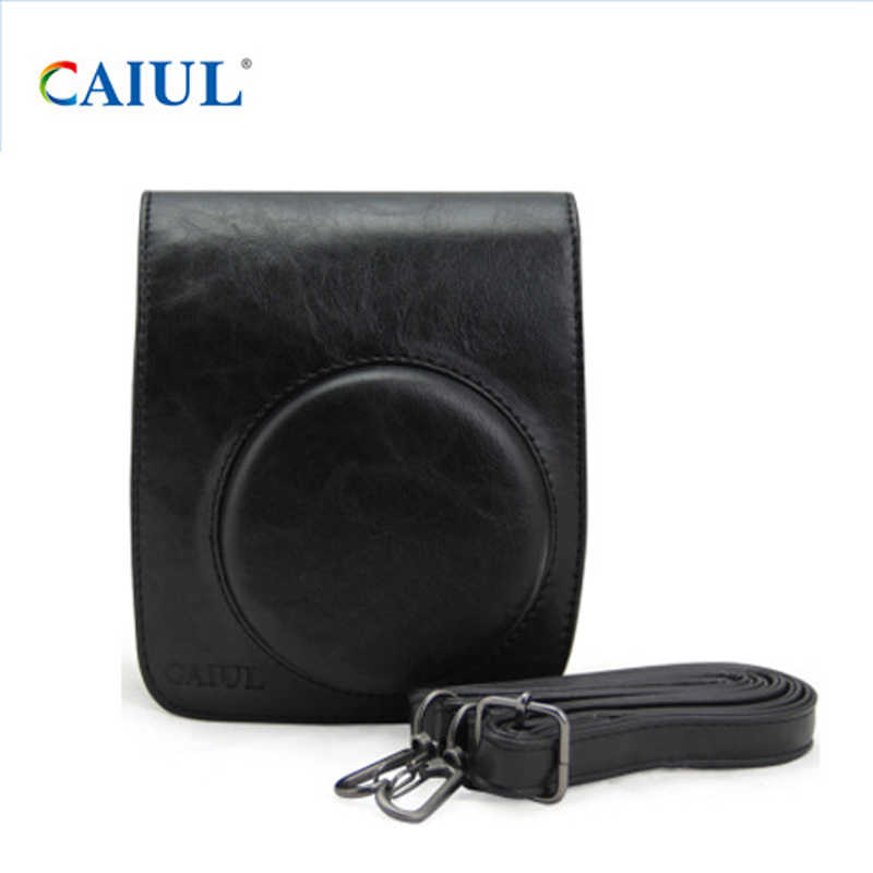 6c453b8d47e9 Кожа Камера сумка кошелек плечевой ремень ретро Стиль сумка защитить чехол  для Fujifilm Instax Mini 90