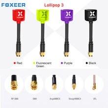 Foxeer – antenne droite/angulaire MMCX 5.8G FPV, 2 pièces, 7.2g, 2,5dbi TX RX RHCP FPV SMA UFL, noir, rouge, vert, violet