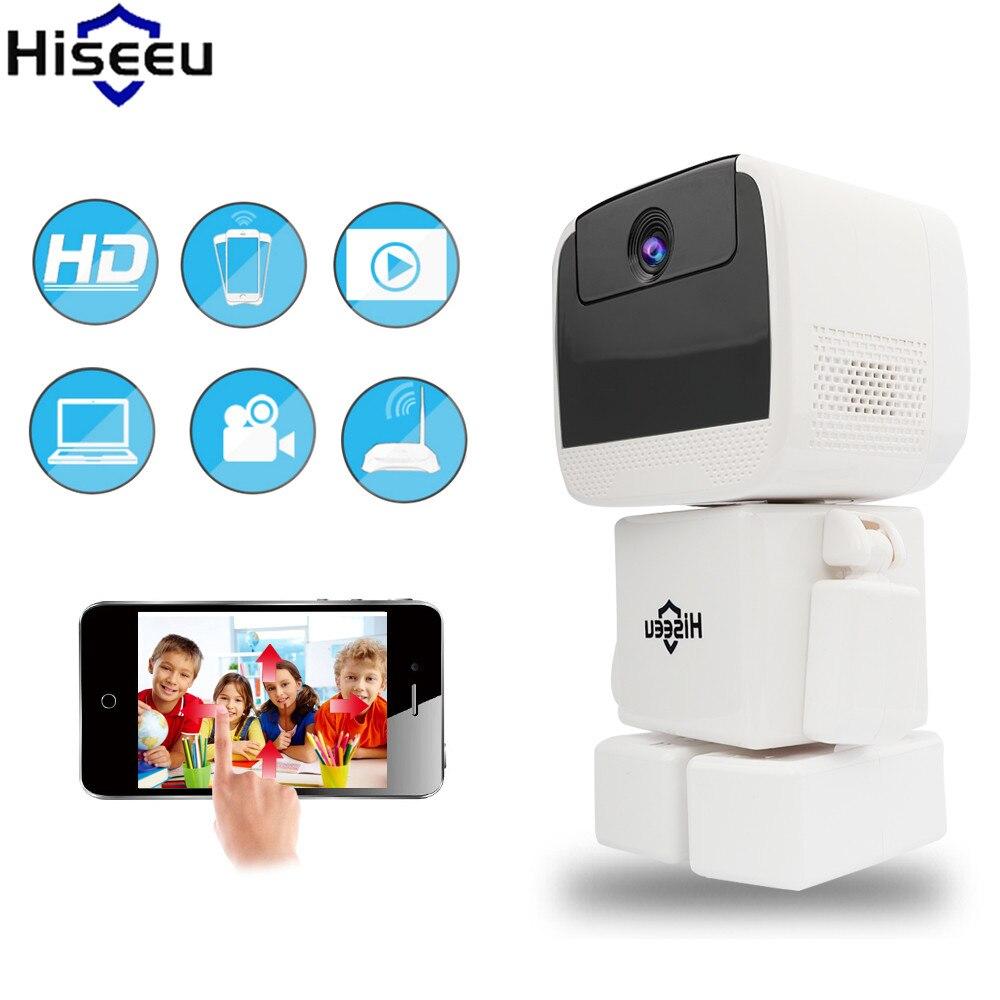 где купить Hiseeu IP Camera 960P HD Robot Camera Night Vision Two Way Audio Baby Monitor CCTV Camera SD Card Record Endoscope Dropshipping по лучшей цене