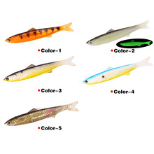 2pcs/Package Sea Fishing Road Asia Simulation Package Aluminum Soft Bait New 12.7g/13cm 3D Fake Imitation Raw Free Shipping