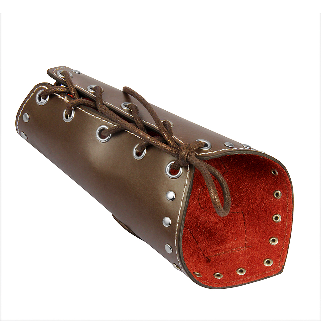 Unisex PU Leather Gauntlet Arm Wristband Wide Bracer Arm Cuff Bangle With Cross Charms Ethnic Charms