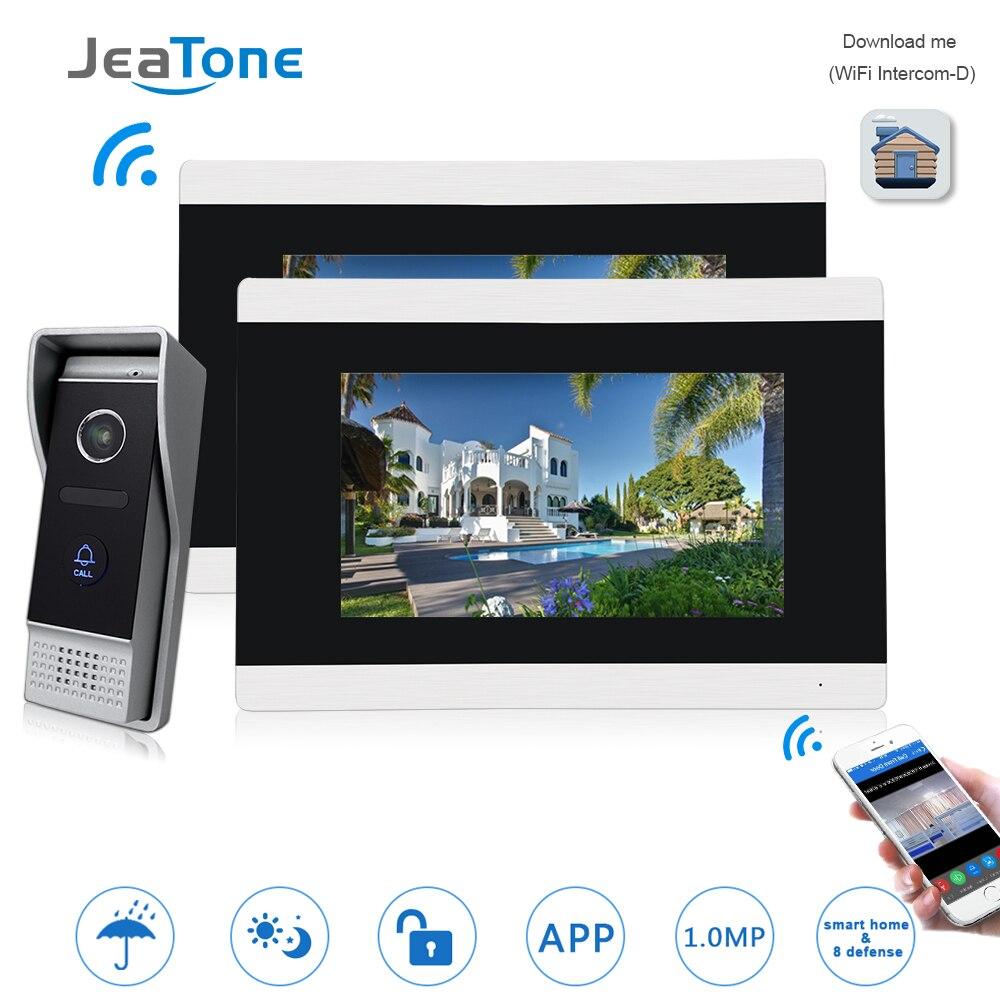 7 ''Schermo di tocco Senza Fili del IP di WIFI Video Telefono Del Portello Del Video Citofono Campanello Appartamento di Rilevamento di Movimento del Sistema di Controllo di Accesso 1 -2