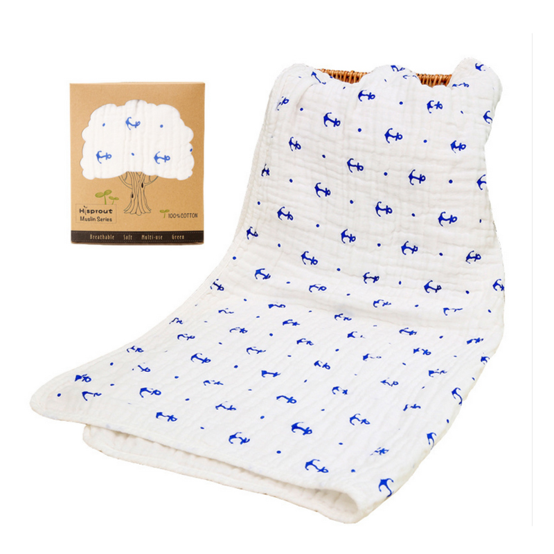 цена Baby Swaddles 90*90cm Seersckuer Muslin 6 layers 100% Cotton Newborn Baby Soft Blankets Bath Towel Hold Wraps With Display Box