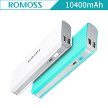 NEW ROMOSS Sense 4 LED Light 10400mAh Powerbank Polka Dot Style Dual USB Output External Battery Pack Sense4 Mini Pover Bank