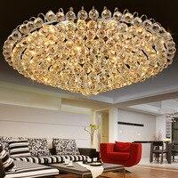 Large Ceiling LED Gold Crystal Ceiling Lamp 110 220v Modern Luxury Led Ceiling Lamp Living Room Lustre Luminaire