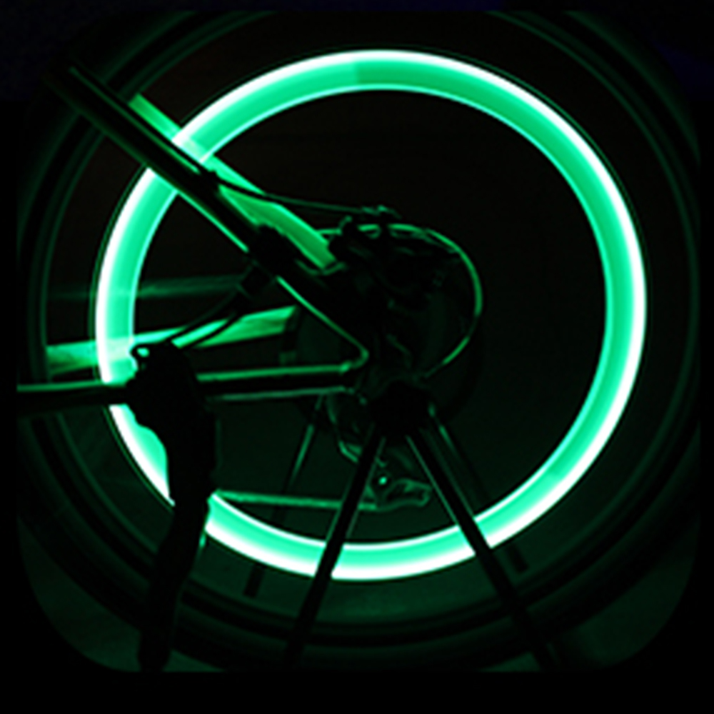 Creative Neon LED Lamp Flash Tyre Wheel Cap Light For Car Bike Motorcycle Call
