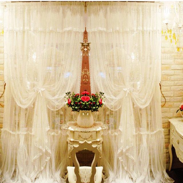Screening finestra tenda di pizzo romantico Mediterraneo soggiorno ...