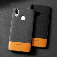 wangcangli luxury materials phone case for vivo X21 suede and cowhide stitching all inclusive phone protection case