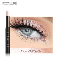 FOCALLURE 12 Colors Eyeshadow Sticker Cosmetics Eye Shadow Pencil Highlighter Shimmer Eyes Makeup Eye Shadow Eye Liner(China)