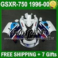 Синий для SUZUKI SRAD GSXR 750 96 97 98 99 00 C3230 GSX R750 GSXR750 1996 1997 1998 1999 2000 зализа синий белый