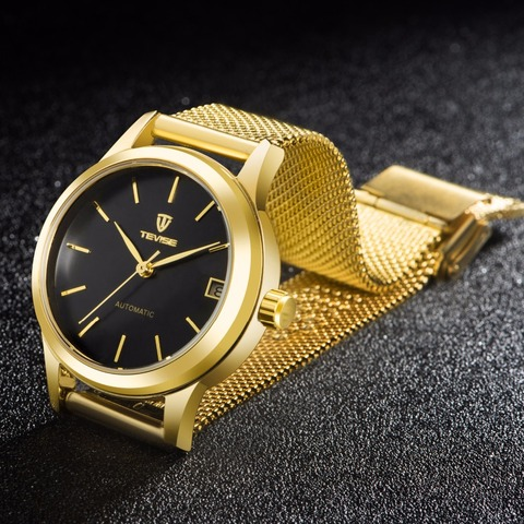 Tevise  Automatic Self-Wind Women Watches Mechanical Mesh Stainlees Steel Auto Date Fashion Causal Wristwatches 9017L Multan