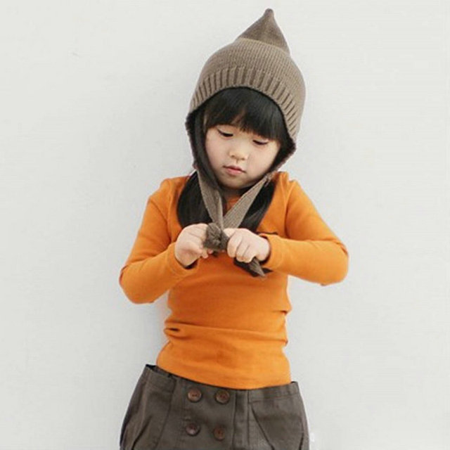 Autumn Toddler Baby T-shirt For Kids Girls Long Sleeve Tee Tops Soft Solid Kids Boys Tees Candy Color Baby Girls Cotton T-Shirts 4