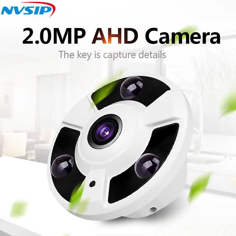 AHD CCTV Camera 360 Degree Wide Angle Fisheye Panoramic Camera AHD Infrared Surveillance Camera Security Dome Camera