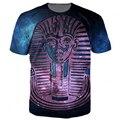 Фараон Galaxy O-neck Футболки пирамиды 3d футболка женщины мужчины вершины тройники летом стиль футболка графические футболки
